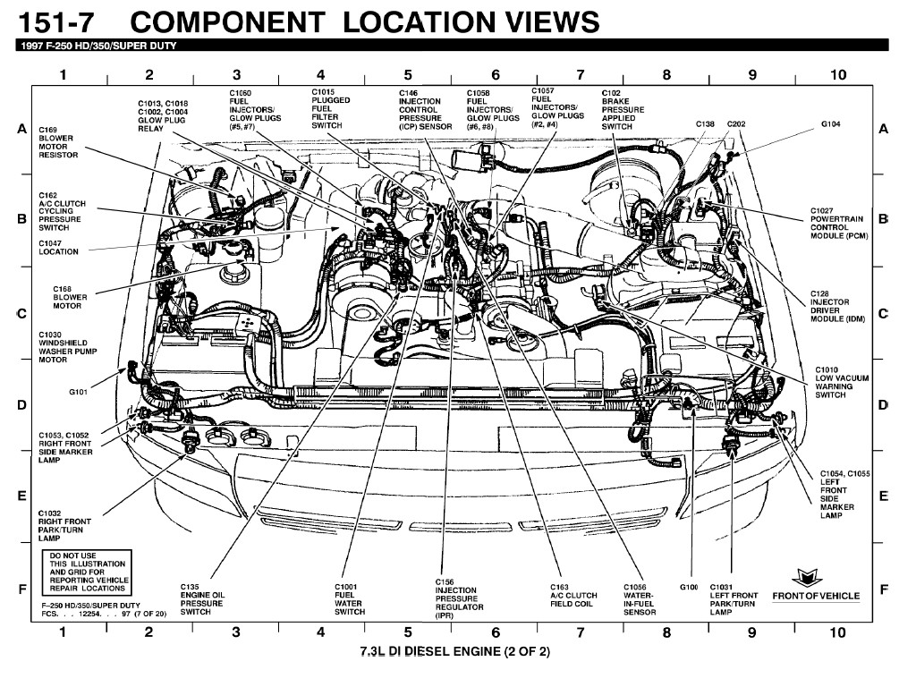 1997 f250 powerstroke 4x4 fuse diagram a c switch relay location ford power stroke nation  a c switch relay location ford power