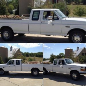 1997 Ford F-250 7.3L Power Stroke Turbo Diesel, 8' Bed, Grille Guard