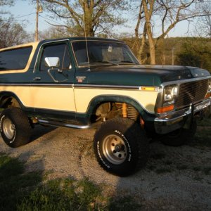 My first vehicle a 1979 Ford Bronco Ranger XLT with a 460 and 4 in lift.