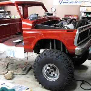 "The quick test clearance fit of the 41"" swampers.."