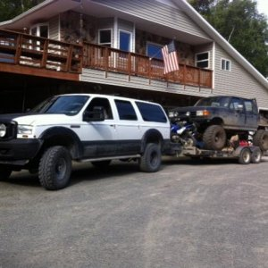 "EX towing Beast- '08 tow mirrors and donut spare 37"" Swamper on stock rim..."