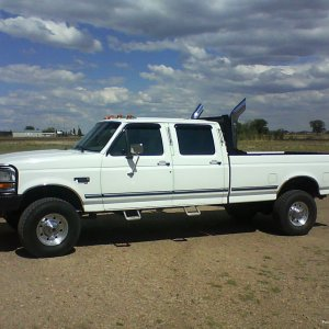 "97 POWERSTROKE CREW CAB 4X4   6"" STACKS RANCH BUMPERS"